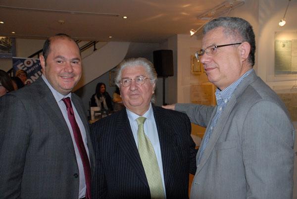 Γιώργος Μινέττας, αναπληρωτής Διευθύνων Σύμβουλος της Ευρωπαικής Ενωσης Ασφάλειαι Μινέττα - Ευάγγελος Σπύρου - Κώστας Μπερτσιάς, αναπληρωτής Διευθύνων Σύμβουλος & Γενικός Διευθυντής της Ευρωπαϊκής Ένωσης Ασφάλειαι Μινέττα