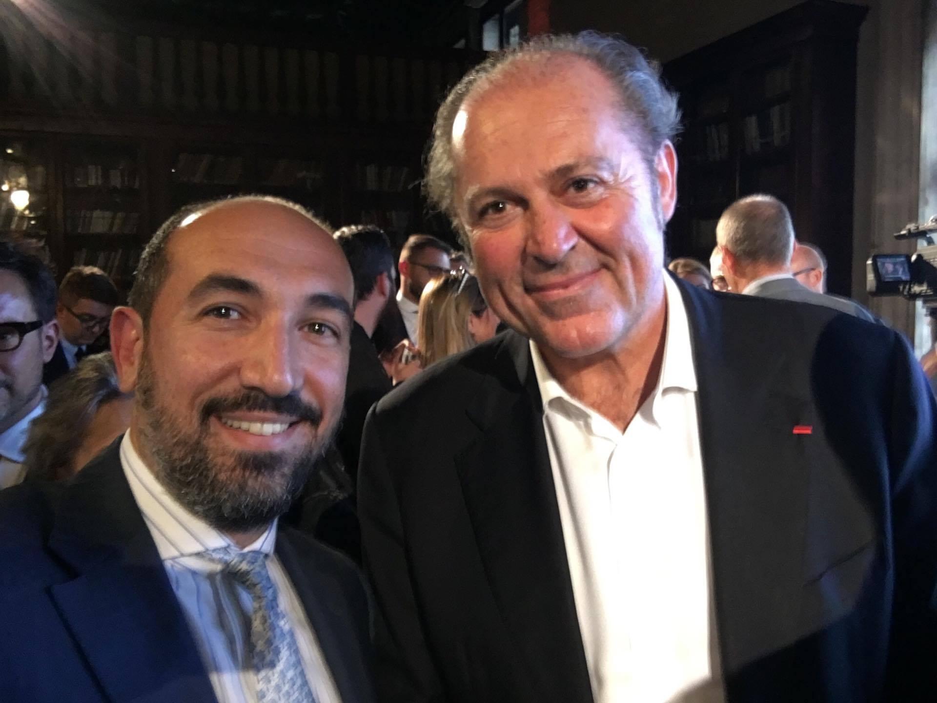 Ο κ. Κωστής Σπύρου με τον Philippe Donnet, Διευθύνοντα Σύμβουλο Ομίλου Generali