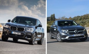 BMW X4 xDrive 20d Vs Mercedes GLC 250d Coupe: Με στιλ… αθλητικό!